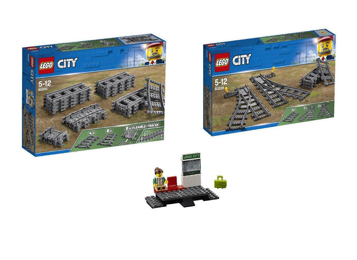 Offriamo vari marchi famosi LEGO LEGO LEGO ® città FERROVIA Set 60205 + Set 60238 + 60197 marciapiedi stazione ferroviaria  risparmia fino al 70%