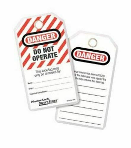 Do Not Operate Safety Tag 12//PKG 497A Master Lock Lockout Tags