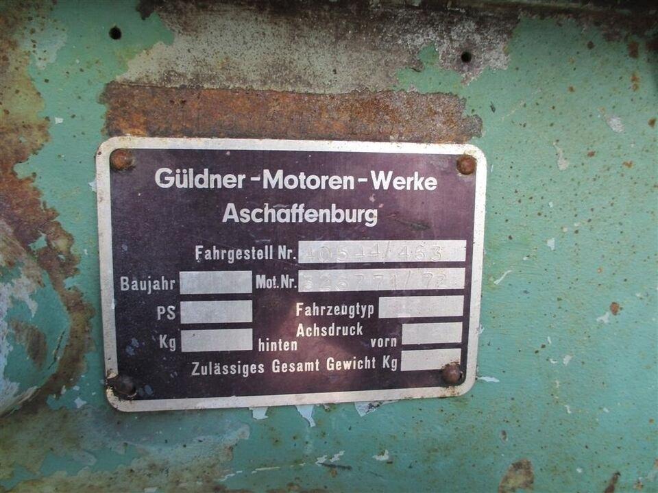 Güldner, 17 HK Med udstyr
