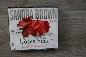 Sandra-Brown-boeses-Herz-Hoerbuch-6-CD-s-Random-House-wie-neu