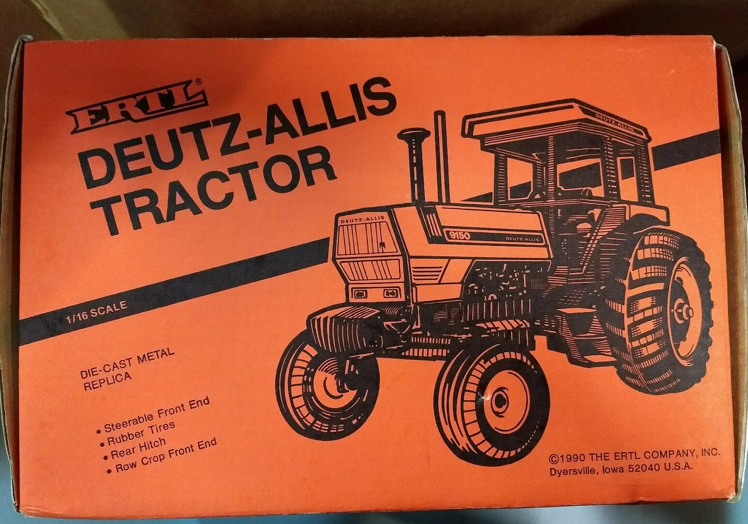 Ertl 1 16 Deutz Allis 9150 Special Edition Die Cast Tractor orange