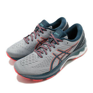 Asics-Gel-Kayano-27-Grey-Magnetic-Blue-Men-Running-Shoes-Sneakers-1011A767-021