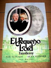 LITTLE LORD FAUNTLEROY Original Movie Poster ALEC GUINNESS RICKY SCHODER