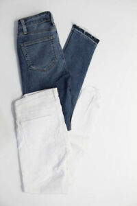 AG-Adriano-Goldschmied-Paige-Womens-Skinny-Jeans-Blue-White-Size-25-24-Lot-2