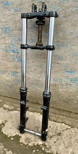 SET 32mm MARZOCCHI FORKS COMPLETE WITH YOKES AND SPINDLE. CHOPPER, TRIALS etc