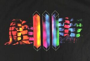 Shiny-Toy-Guns-III-Album-Tour-T-Shirt-XL-Black-Color-Prism-Band-Music-Rock