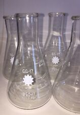 Lot Of 4 250ml Gg 17 Chemistry Glass Flask Measuring Glassware Laboratory Liang