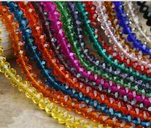3mm-4mm-6mm-8mm-10mm-Rondelle-Faceted-Crystal-Glass-DIY-Spacer-Loose-Beads