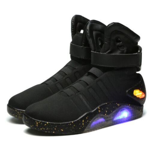 Mag back to the future light up noir baskets chaussures toutes tailles nouveau