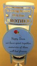 In Loving Memory Of A Dear Brother Grave Spike Flower Vase Memorial Tribute BHT