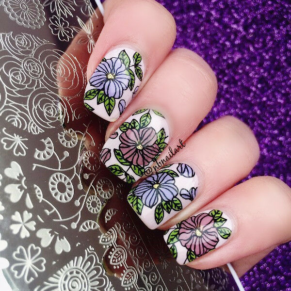 BORN PRETTY Nail Art Stamp Plate  Image Template Floral Style BP-L046