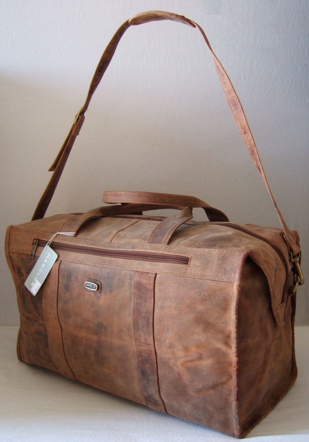 Harold's Reisetasche 503026 cm Rind-Leder Sport-Tasche Weekender Harolds 77703