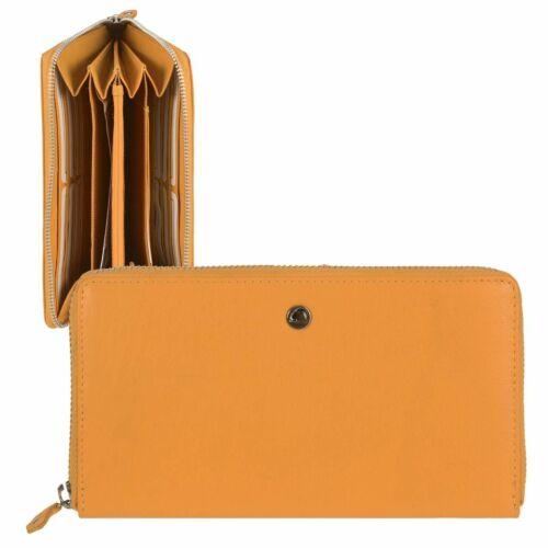 GREENBURRY Portefeuille Cuir Femmes Bourse Long 12 cartes matières portefeuille jaune