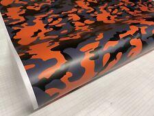 Yellow Orange Black Gray Camo Vinyl Car Wrap Sheet Free Tools 2 Feet Amp Up