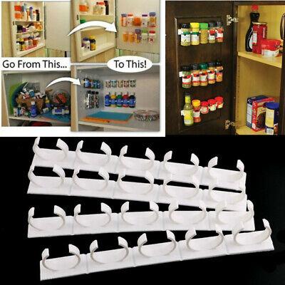 20Clips Kitchen Chip Spice Jar Rack Storage Holder Cupboard Door Cabinet Nice