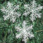 30Pcs Classic White Snowflake Ornaments Christmas Holiday Party Home Decor AU