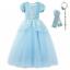 Girl-Cinderella-Cosplay-Dress-Puff-Sleeve-Princess-Costume-Layer-Party-Dress-Set thumbnail 1