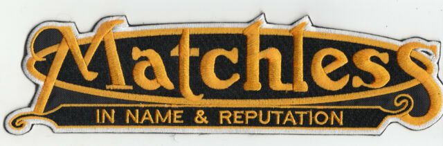 MATCHLESS LARGE BACK EMBROIDERED PATCH