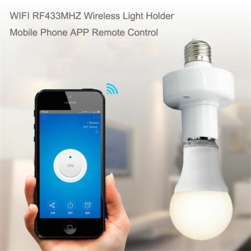 DEL E27 Wifi Ampoule Smart App Support Base Socket Remote control by iOS Andro