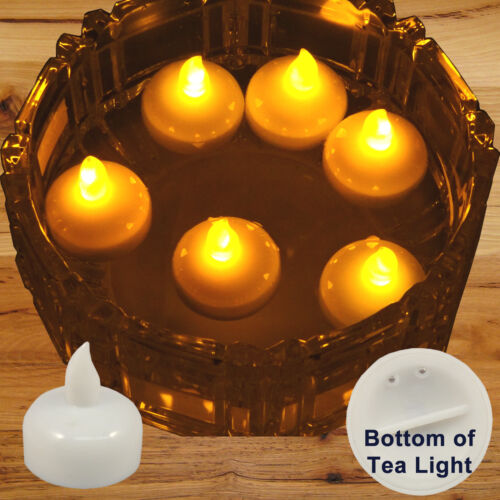 FREESH 36X Waterproof LED Floating Tealight Flameless Candle Wedding Party Amber