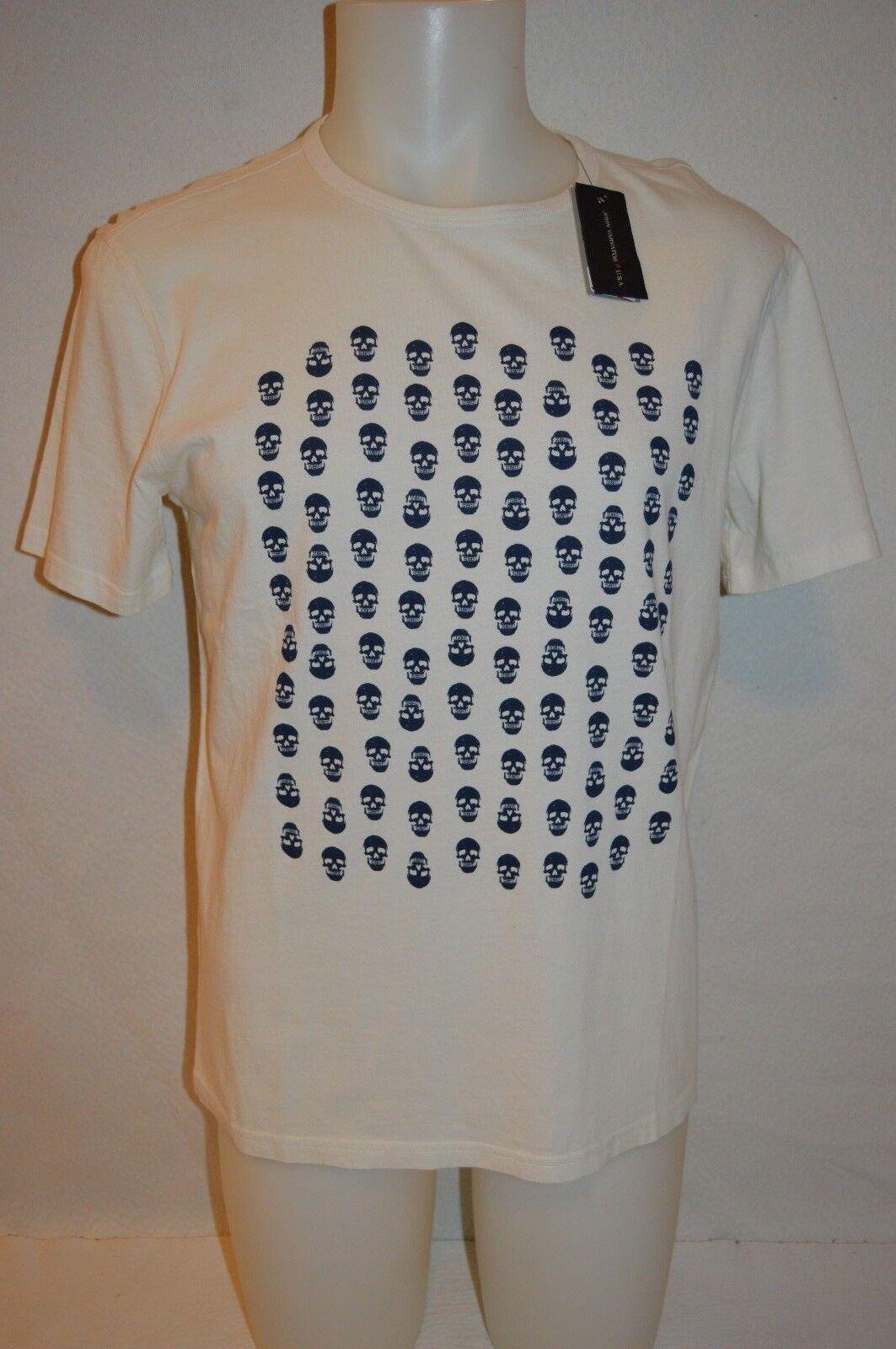 JOHN VARVATOS  Star USA Man's SKULLS T-shirt NEW Size Large