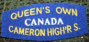 Verzamelingen paire d'insignes canadien du queen's own cameron highlanders