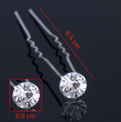 Flower Wedding Hair Pins Comb Bridal Clip Diamante Pearl Bridesmaid Accessories