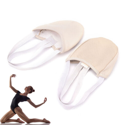 Half PULeather Sole ballet pointe Dance Shoes Rhythmic Gymnastics Slippers~OY