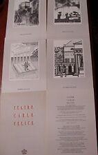 TEATRO CARLO FELICE cartella celebrativa n°241 di 1500 (posa 1°pietra)-4 disegni