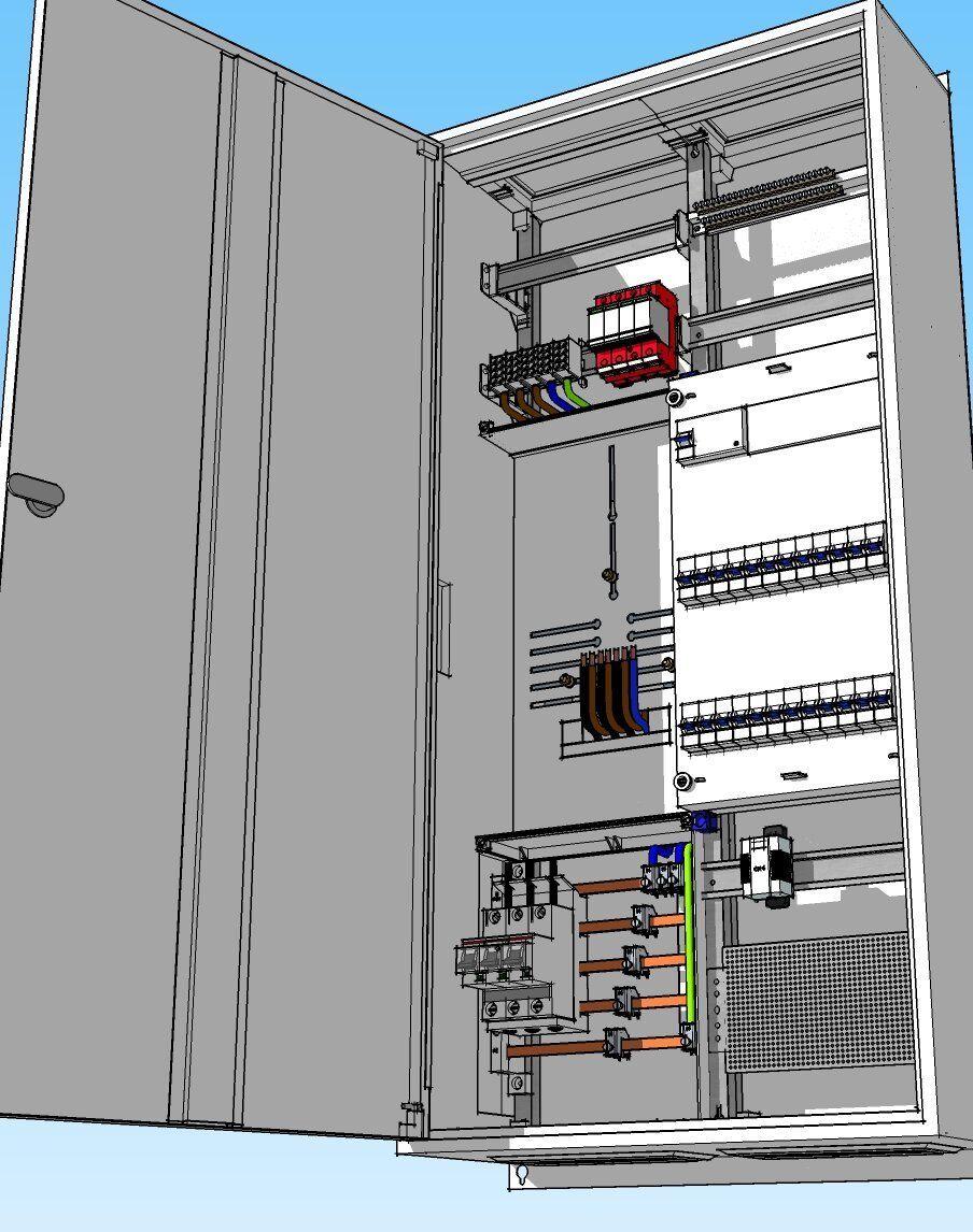 Zählerschrank 1-Familienhaus, 3Hz, Zpl., Verteiler, SLS 3x35A, wirklich komplett