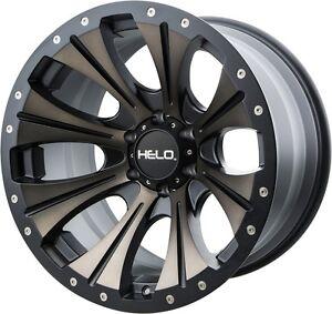 17 Inch Tinted Black Wheels Rims Jeep Wrangler Jk Helo He901 5 Lug