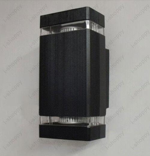 LED Outdoor Wall Sconces Up/Down Light Fixture Garden Door Lamp Bulb Replaceable