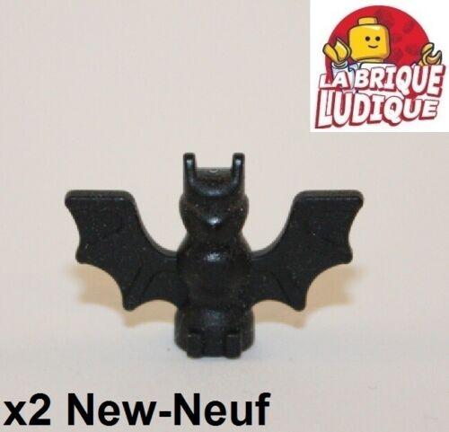 2x Animal Bat chauve souris oiseau bird batman noir//black 30103 NEUF Lego