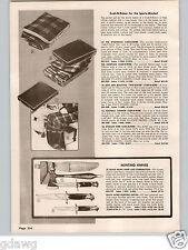 1958 PAPER AD Black Hawk Hunting Camping Sheath Knife Axe Axes