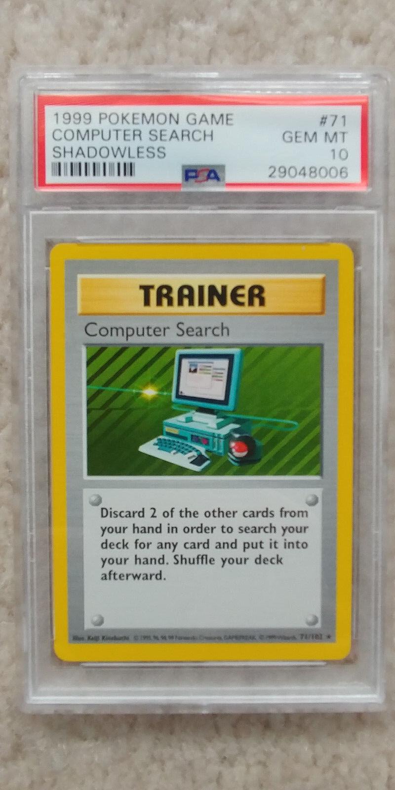Pokemon computer durchsuchen, 71   102 shadowless basisbeschreibung psa 10 1999 pokemon tcg