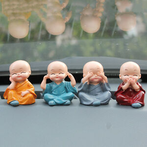 Four-little-monk-Buddha-Kung-Fu-lovely-car-decoration-car-accessories-vehicle-3C