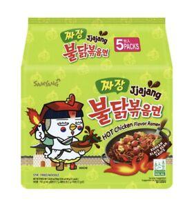 Samyang-Jjajang-Korean-Black-Bean-Sauce-Hot-Chicken-Flavor-Ramen-130g-5Packs