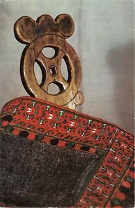 B19036-Folklore-Costumes-et-Danses-Carving-wood-chair-from-Bihor