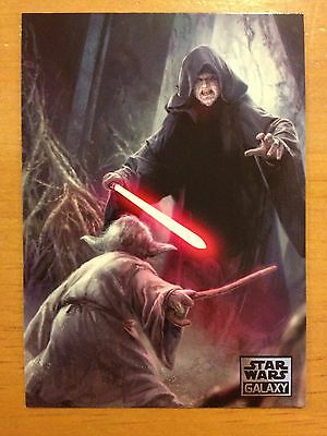 Topps 2012 Star Wars Galaxy Series 7 #48 Beyond the Cave (Yoda / Sidious) MINT
