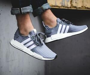 5a6d3b06cf1db Adidas NMD R1 Size 11. Bedwin Heartbreakers Grey BB3123 pinestripe ...
