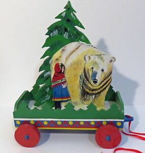 Vintage-Snowgirl-Pull-Toy-VBI-Handpainted-in-Sri-Lanka-From-Snow-Mainden-Tale