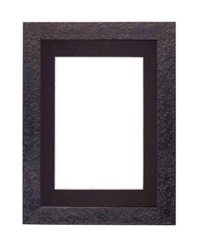 Texturé Flat Frame monté Photo Image Affiche Frames Avec Mount noyer noir