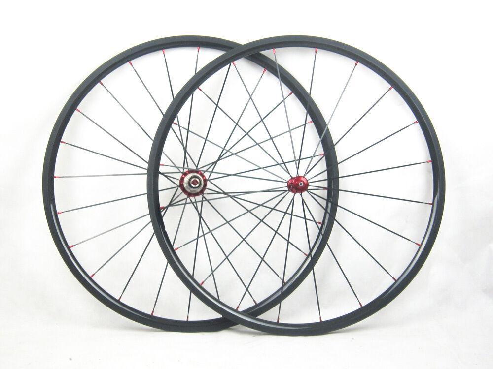 Speedcarbon11 24mm tubular full carbon fiber road bicycle wheels straight pull