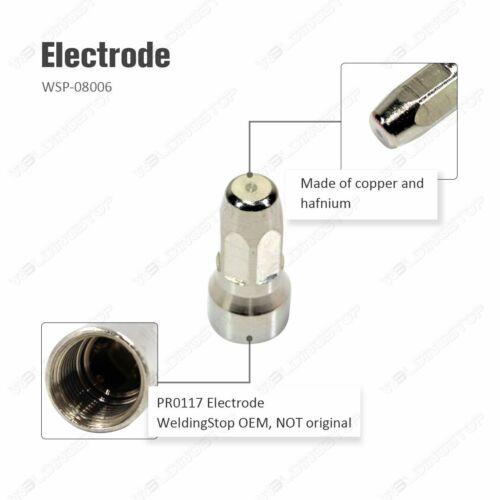 PR0117 Plasma Electrode PD0114-10 Tips 1.0mm for Trafimet S75 Cuting Torch 20pcs