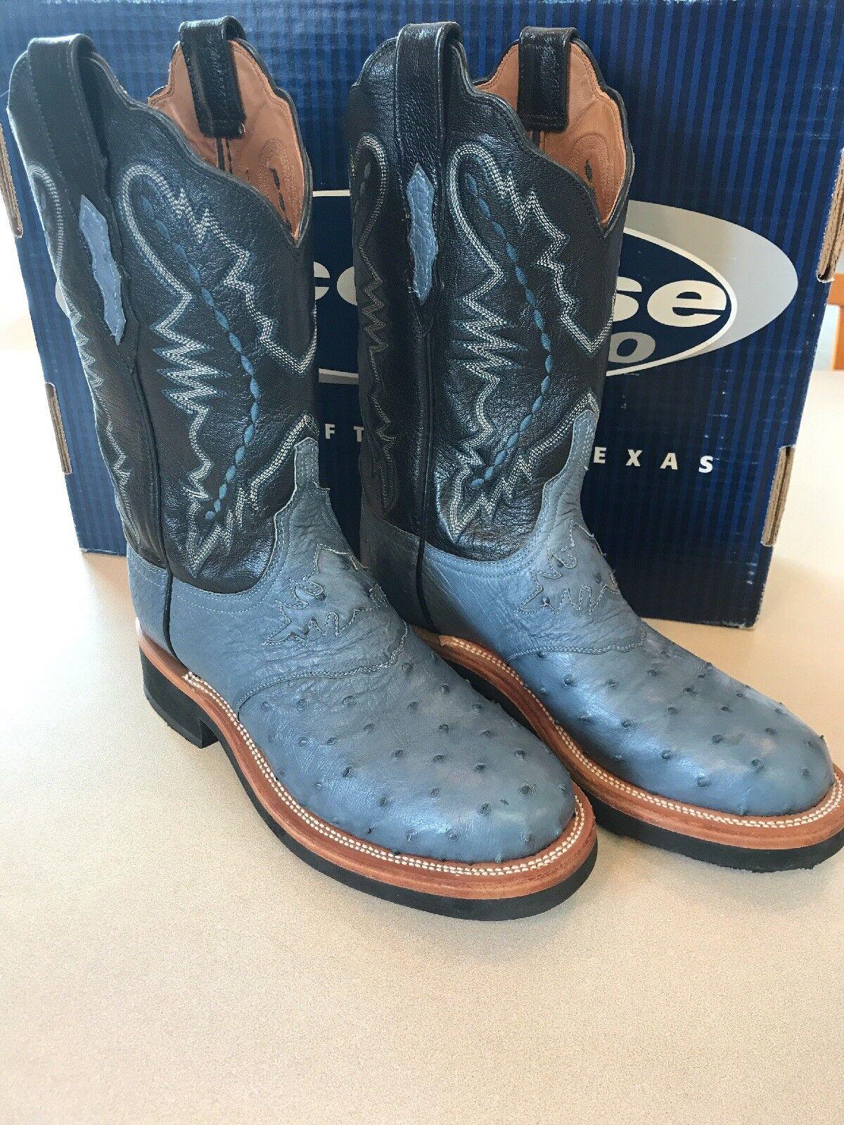 NWOT LUCCHESE damen Blau Blau Blau 8 1 2 cowgirl Stiefel, crêpe soul c3f014