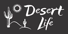 Desert Life Cactus  - Die Cut Vinyl Window Decal/Sticker for Car/Truck