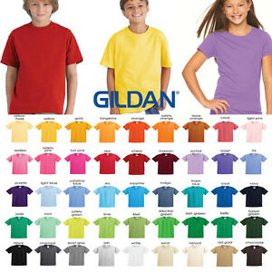 fbe06e03d Image is loading GILDAN-PLAIN-YOUTH-TSHIRT-BLANK-YOUTH-UNISEX-WHOLESALE-