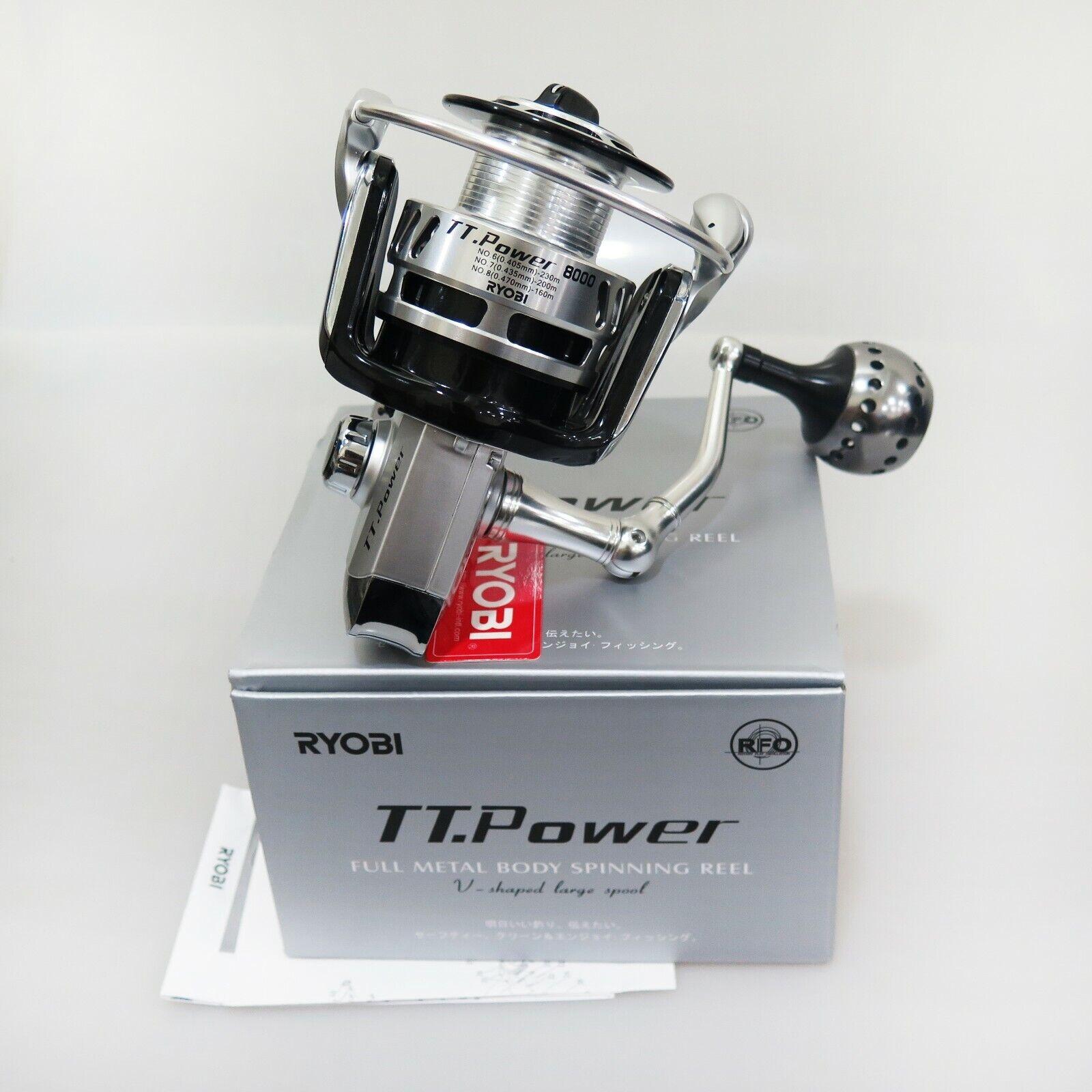RYOBI TT.energia 8000 Full Metal corpo Spinning Reel Fedex shipping 2days to Usa