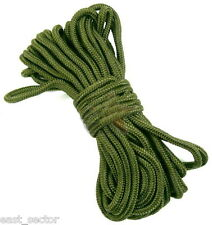 HIGHLANDER PARA CORD 4mm x 15m EMERGENCY WOVEN LINE CAMPING SAILING ROPE OLIVE