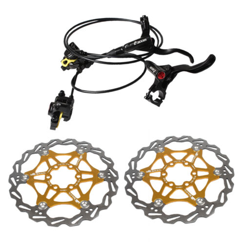 ZOOM Hydraulic Disc Brake Cailper Lever Set Black With 160mm 5 Colors Brake Disc